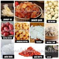Peach gum dessert 10 bahan minuman herbal lawan corona komplit