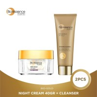Bio Essence Bio-Gold Night Cream 40Gr + Cleanser Package