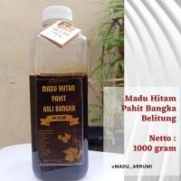 Madu Asli Hitam Pahit Hutan Bangka Belitung 1000 gr / madu arrumi