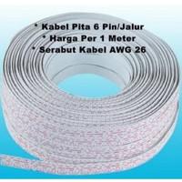 Kabel Pita 6Pin 6p 6 p Cable Pelangi Dupont 6 pin 26AWG 26 Awg Tinned