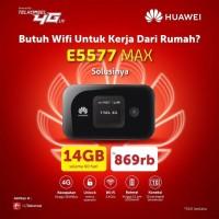 MODEM HUAWEI E5577 MAX Modem Mifi 4G LTE Free TELKOMSEL 14GB (UNLOCK) - HITAM VERSI 321