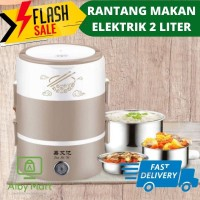 Rantang Makan Elektrik Listrik Susun Pemanas Steamer 2 Liter