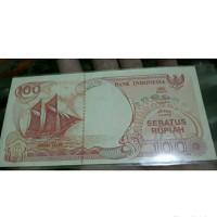 Uang kuno 100 rupiah Uka Uka Perahu layar 1991