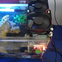 Kipas kipas aquascape fan aquarium otomatis suhu
