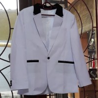 Jas Putih Akad Nikah Wedding, Kualitas Top! - Size Fit to XL
