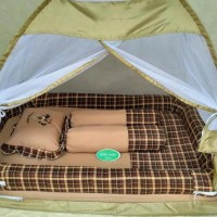 Kasur Bayi Bess Kelambu Tenda Warna Tua - Merah Duniabelanja8
