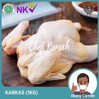 Daging Ayam Utuh Broiler Karkas (1kg) Whole Chicken Grosir