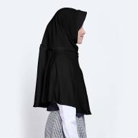 Kerudung Anak Sekolah ZOYA / Bergo / Hijab Instan - SUKSESMINI HITAM