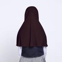 Kerudung Anak Sekolah ZOYA/Hijab Instan-CEMERLANGMINI COKLAT
