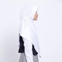 Kerudung Anak Sekolah ZOYA / Bergo / Hijab Instan - JUARAMIDI PUTIH