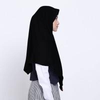 Kerudung Anak Sekolah ZOYA / Bergo / Hijab Instan - PRESTASIMAXI HITAM