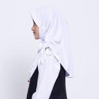 Kerudung Anak Sekolah ZOYA / Bergo / Hijab Instan - CERMATMINI PUTIH