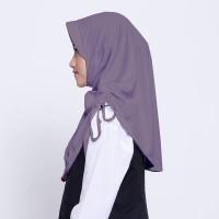 Kerudung Anak Sekolah ZOYA / Bergo / Hijab Instan - CERMATMAXI ABU