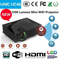 Mini Projector Proyektor LED UC46 PLUS WIFI / Infocus Mini UC46