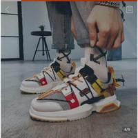 Sneakers Sepatu Pria Kasual Olahraga Sport Korea Style Not SKECHERS