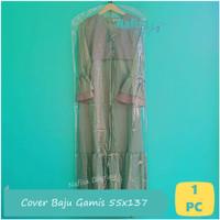 Cover Mika Baju Gamis 55x137 Cm Plastik Pelindung Pakaian