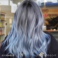 CHAOBEN 0.11 ASH BLUE GRAY - hair color cream cat pewarna rambut abu
