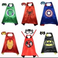 Jubah Anak + Topeng Karakter Avengers / Mainan Anak Cowok Avengers