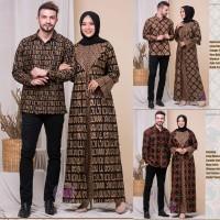 NK BATIK BAJU COUPLE PASANGAN MARWAH KEMEJA BATIK MAXY DRESS