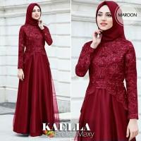 Baju Gamis Syari Wanita Terbaru Kaella Brokat Maxi Dress Termurah