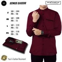 Baju Koko Motif Takedo Warna Maroon/Baju Koko Warna Merah/Koko Hadroh