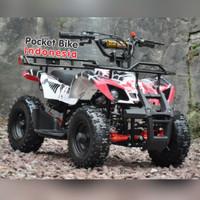 Motor Mini ATV 50cc ATV Mini Hunter 50cc Automatic Bensin Campur 2T