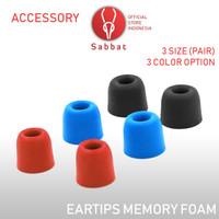 Memory Foam Eartips 3 Size SML Noise Isolating Acoustics Suit for E12