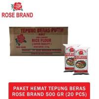 Hot Promo Paket Hemat Tepung Beras Rose Brand 500 Gram (1 Dus)