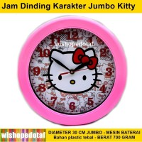 Jam Anak Dinding Karakter HELLO KITTY JUMBO