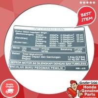 Original !!!!!!! Spare Part Motor Honda Label Tire Indonesia Beat Esp