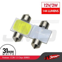 Lampu LED Mobil Festoon / Double Wedge COB 12 Chips - 31mm