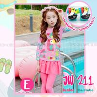 (2-7y) Baju Renang Anak Birg Forest Pink Dengan Armban Merek JW
