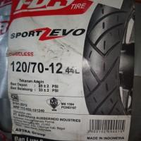 Ban Luar Motor Matic Scoopy Merk FDR Ukuran 120/70-12 Zevo Tubeless