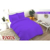 Full Set Bedcover Polos Embos Fata King 180 Warna Lavender Violet Ungu