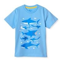 MOOSCA KIDS Shark Family T-shirt Kaos Anak - S