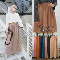 Rok Muslim Wolfis Premium / Wolpeach Skirt Rok Polos Panjang Wanita