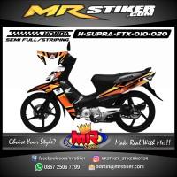 Stiker motor decal Honda Supra Fit X Striping Variasi Simpel