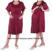 dress hamil menyusui jumbo keren KBH 1758 bajuhamil baju hamil