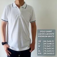 Baju Polo Shirt | Kaos Pria - Premium WHITE - Putih, S