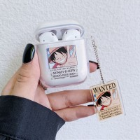 For Apple AirPods 1/2 Case One Piece Anime Transparent Case Air Pods