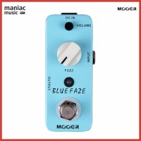 Mooer Blue Faze - Efek Gitar. Fuzz. Distorsi. Vintage. Mini. H Terbaik