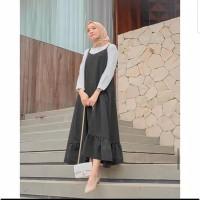 Rampel Bawah Overall Polos Over All Wanita Fashion Baju Hijab Muslim
