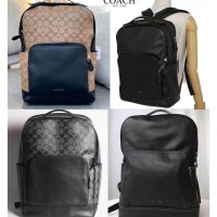 Tas COACH men graham backpack signature tan black Original