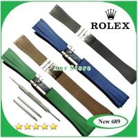 Tali Jam Tangan Rubber B Rolex Daytona Datejust Oyster Gmt 20 mm Free