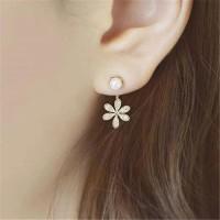 Anting Kristal Pearl Crystal Imitation Stud Earring