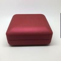 Kotak Perhiasan Liontin Anting Giwang Modern Import Merah Doff Hi Qty