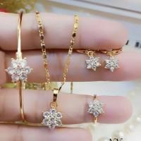 xuping set perhiasan anak lapis emas 24k 16t35