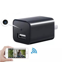 Wifi Spy Cam HD1080P AC Adapter Hidden Camera P2P Wireless Recorder