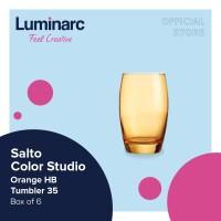 Luminarc Gelas Salto Color Studio - Orange H/B Tumbler 35 - Box of 6