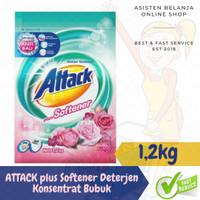 ATTACK 3D Clean Action Deterjen Anti Bau+Softener 1,2Kg Detergen Bubuk